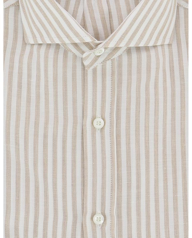 Striped cotton and linen shirt BRUNELLO CUCINELLI