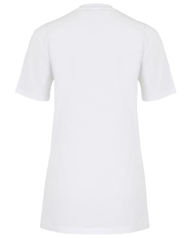 T-shirt en coton orné de strass ERMANNO SCERVINO