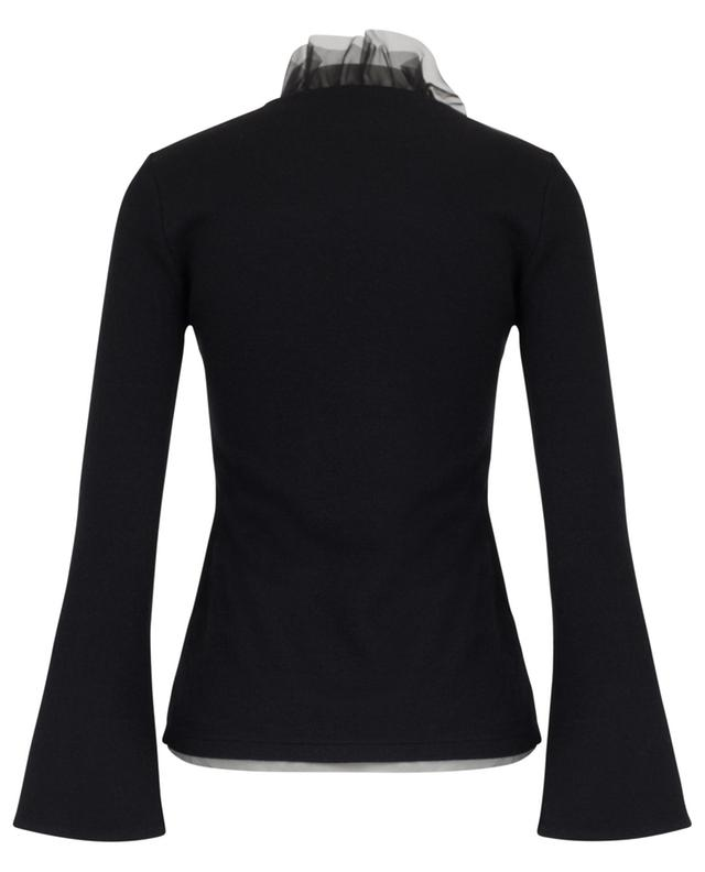 Wool, silk and cashmere ruffled top ERMANNO SCERVINO