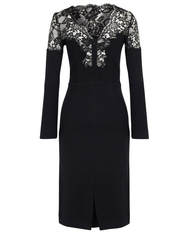 Sheath dress adorned with sparkling lace ERMANNO SCERVINO