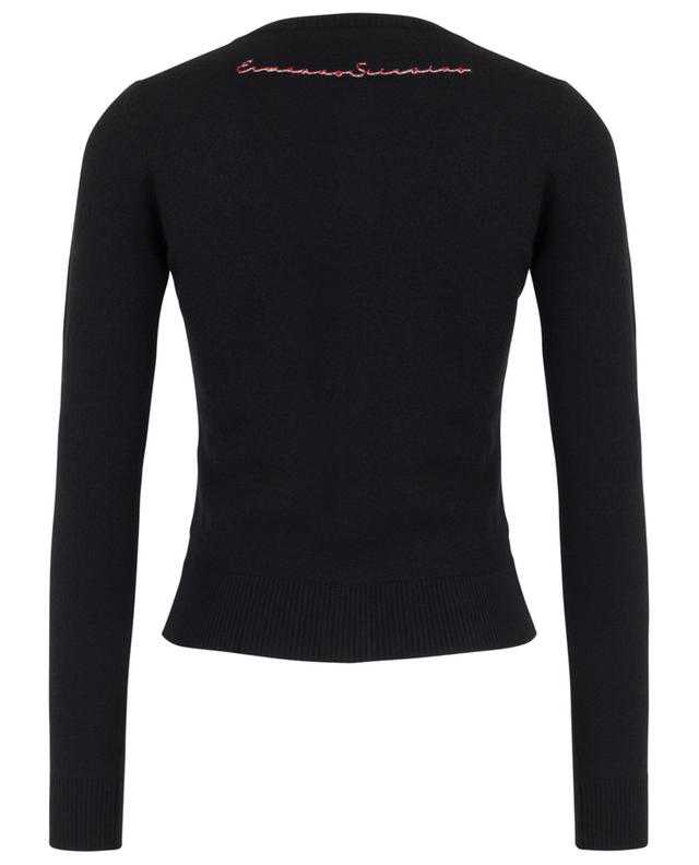 Logo embroidered fitted button-down cardigan ERMANNO SCERVINO