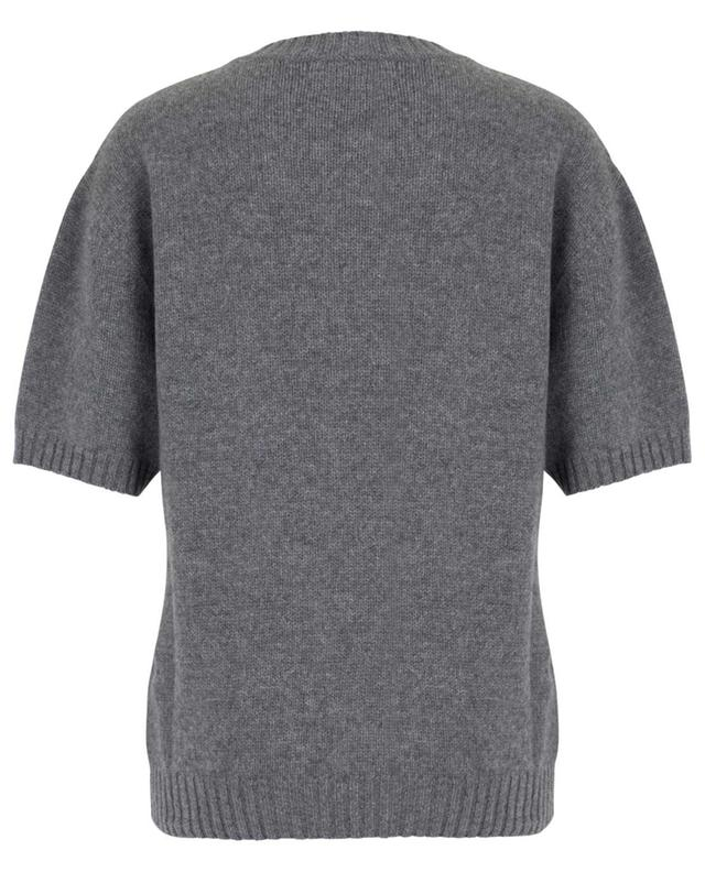 Short-sleeved cashmere jumper with pocket ERMANNO SCERVINO