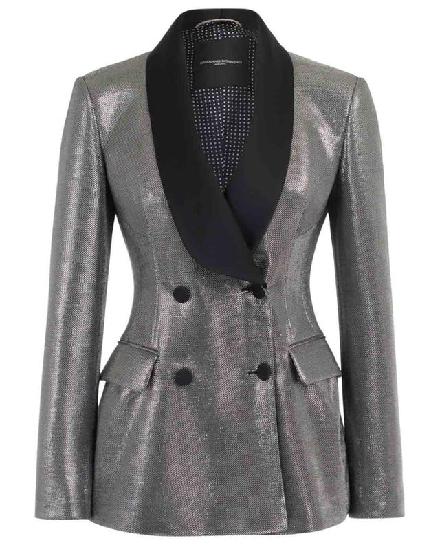 Slim-Fit-Blazer in Metallic-Optik ERMANNO SCERVINO