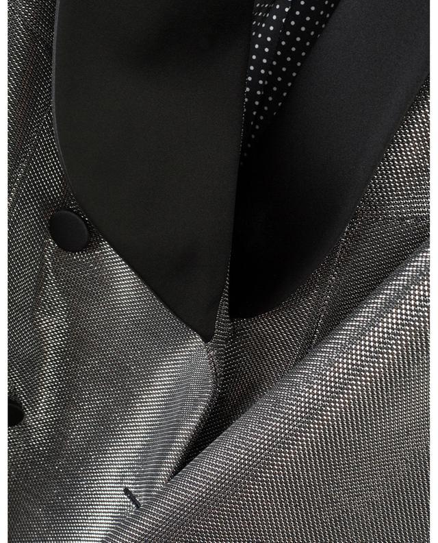 Metallic slim fit blazer ERMANNO SCERVINO