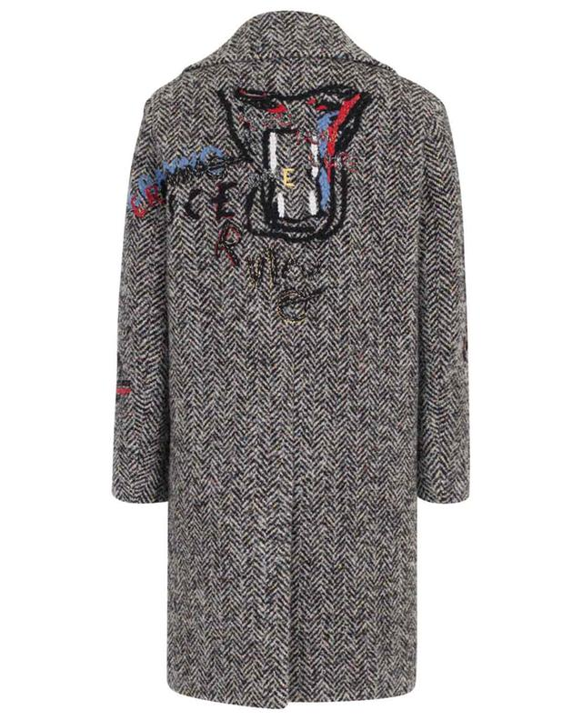 Embroidered three-quarter length coat ERMANNO SCERVINO
