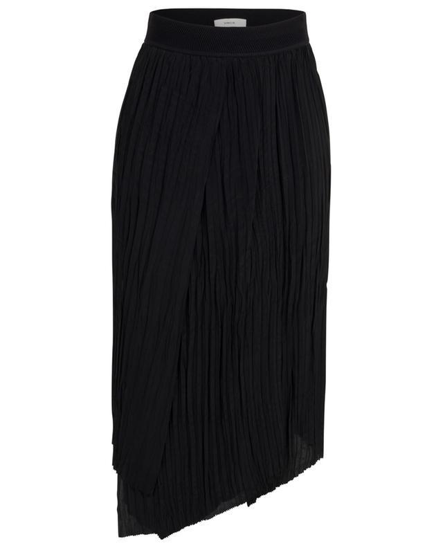Asymmetrical crinkle pleat skirt VINCE