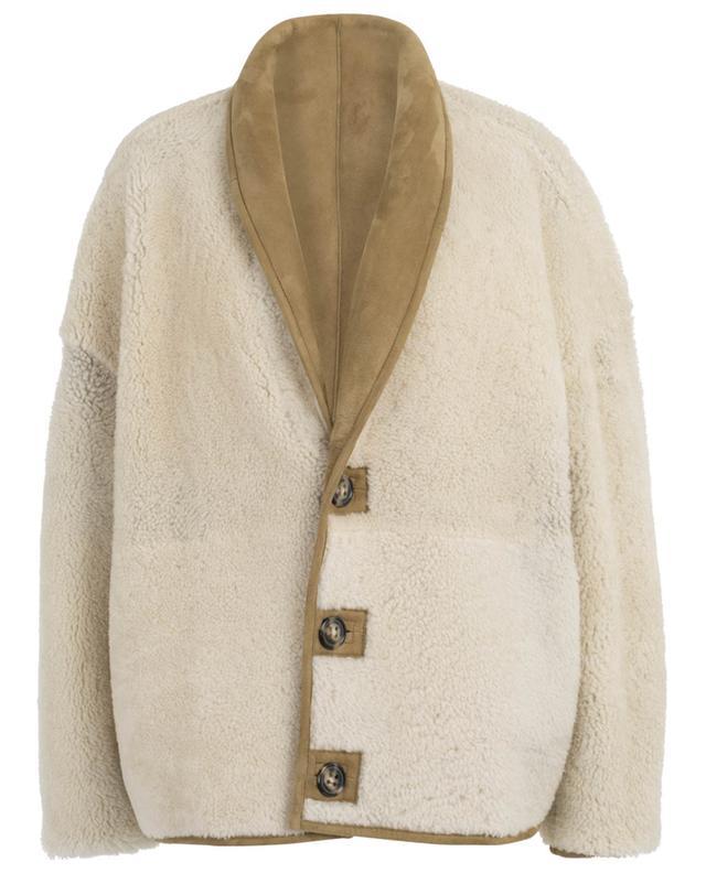 Manteau court réversible en peau lainée Carter ISABEL MARANT