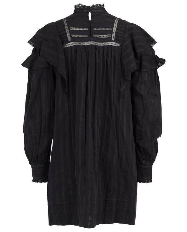 Robe trapèze courte embellie de dentelle et de volants Patsy ISABEL MARANT