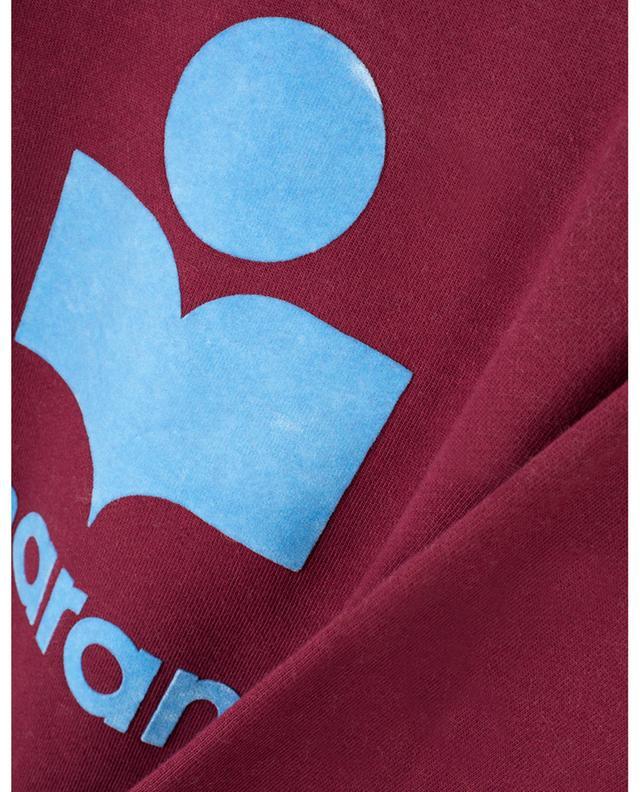 Sweat-shit en coton mélangé avec logo Moby ISABEL MARANT