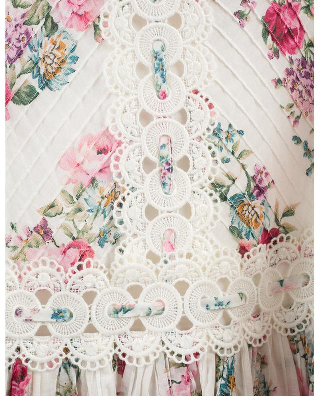 Honour floral printed mini skirt with embroideries ZIMMERMANN