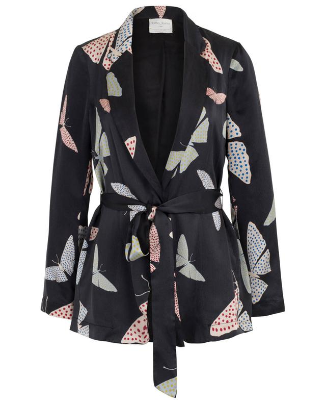 Papillons Gitans textured satin blazer with belt FORTE FORTE