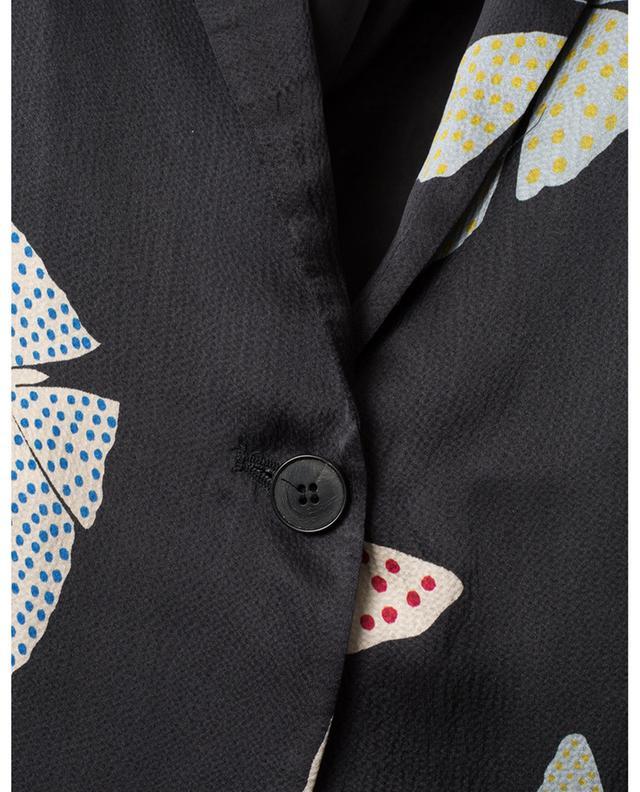 Papillons Gitans textured satin blazer with belt FORTE FORTE