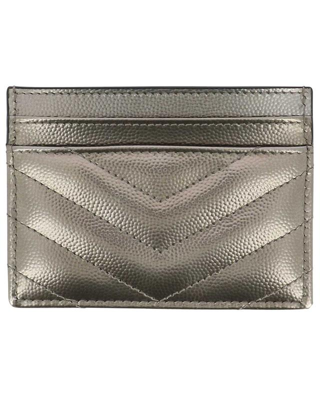 Monogram Grain de Poudre card holder SAINT LAURENT PARIS
