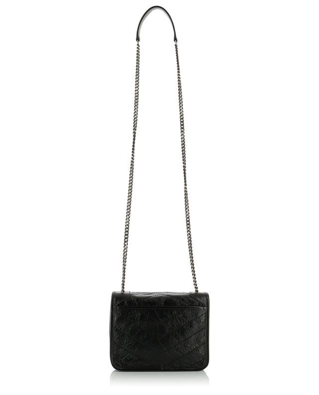 Mini-sac en cuir froissé Niki Chain Wallet SAINT LAURENT PARIS