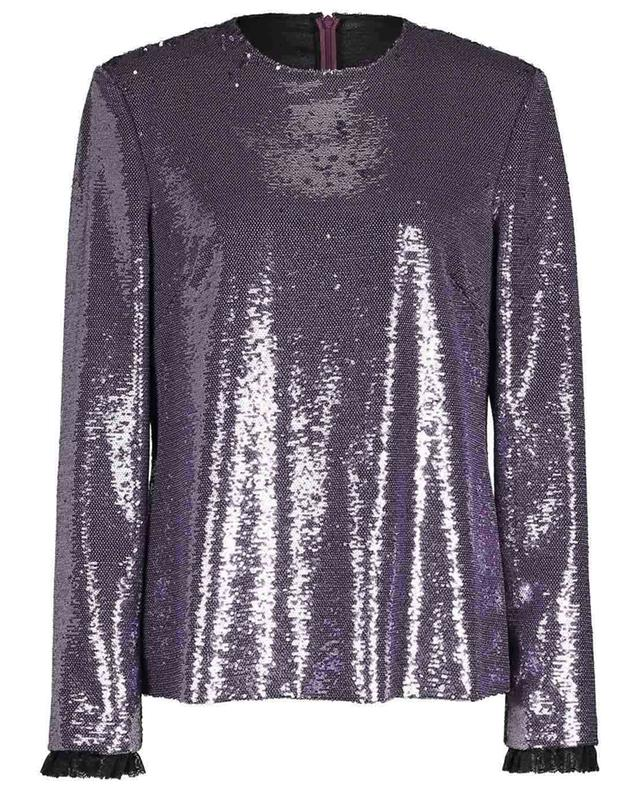 Fitted sequined top with shoulder pads PHILOSOPHY
