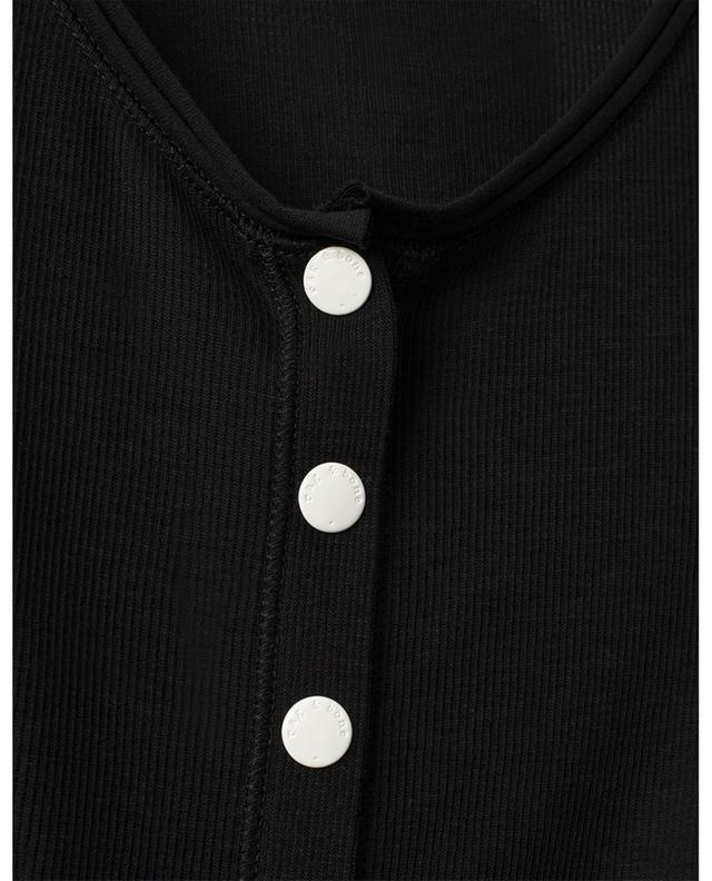 Mac rib knit bodysuit with button placket RAG&BONE JEANS