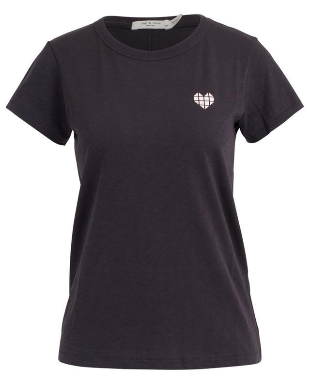 T-shirt en coton flammé Heart Tee RAG&BONE JEANS