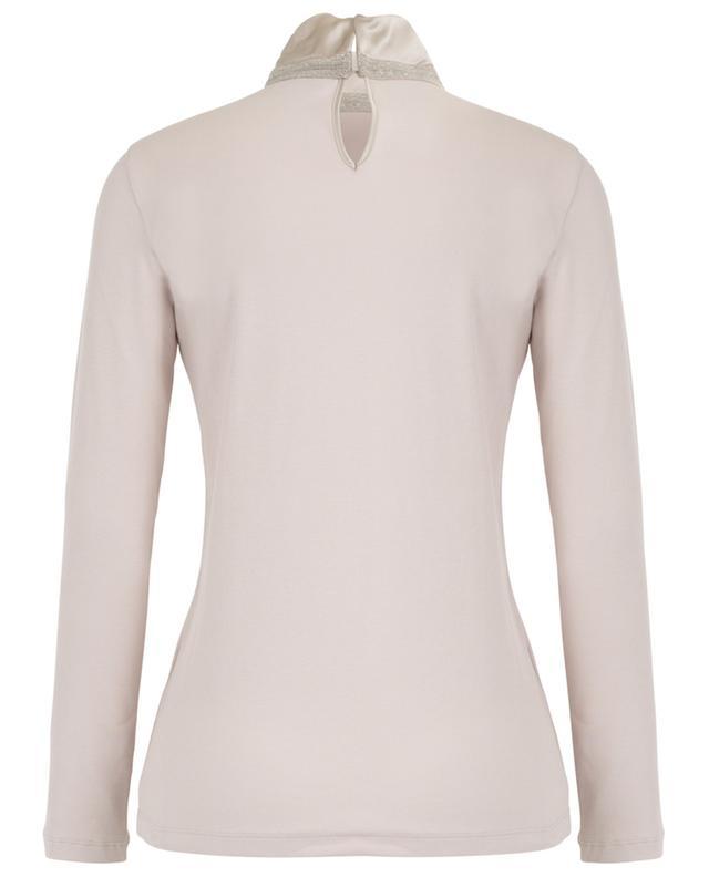Geripptes Langarm-T-Shirt mit Stehkragen FABIANA FILIPPI