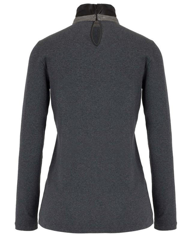 Ribbed long-sleeved T-shirt with stand-up collar FABIANA FILIPPI