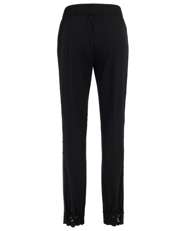 Breezy tuxedo spirit trousers embroidered with sequins FABIANA FILIPPI