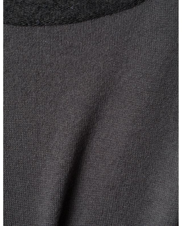 Robe tricot midi bi-matière brodée de sequins FABIANA FILIPPI