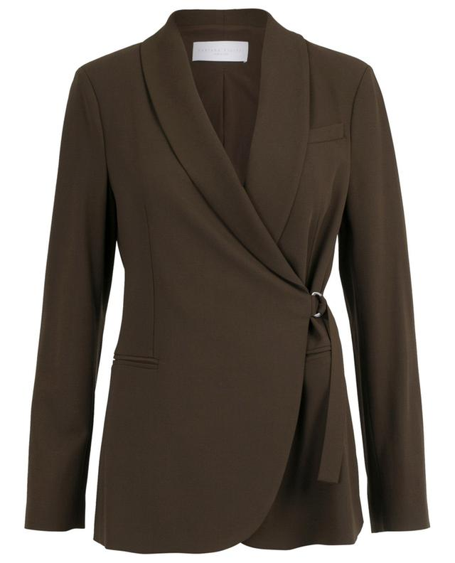Double-breasted virgin wool wrap blazer FABIANA FILIPPI