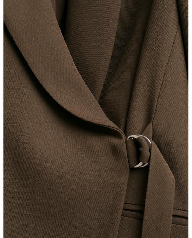 Double-breasted virgin wool wrap blazer FABIANA FILIPPI