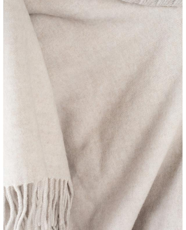 Poncho with embroidered stand-up collar FABIANA FILIPPI