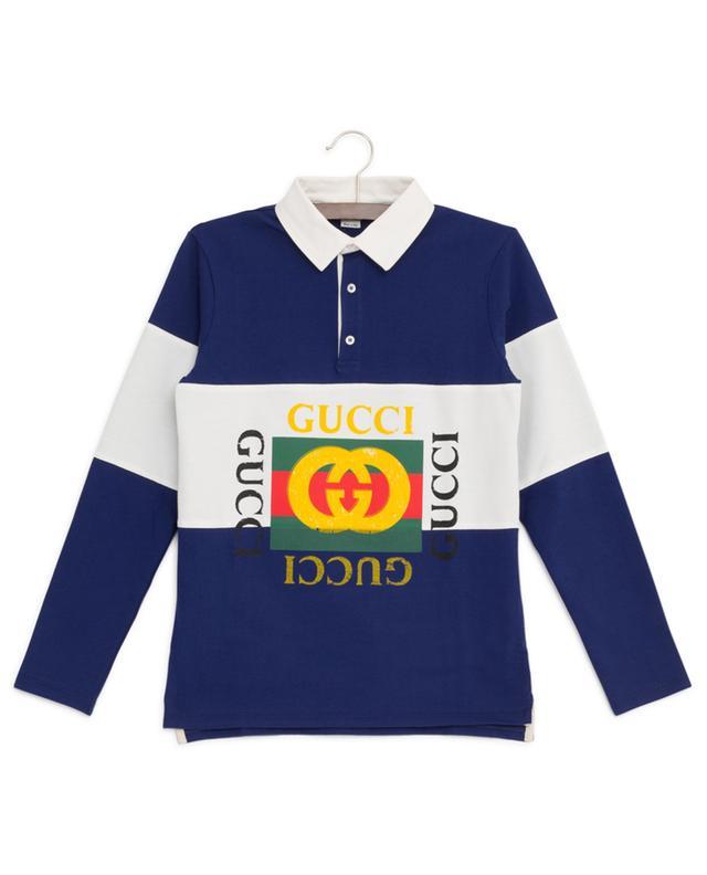 Polo à manches longues rayé Gucci Vintage Logo GUCCI