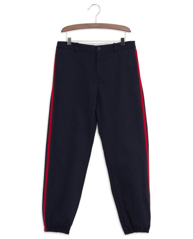 Pantalon en gabardine à chevilles resserrées Web GUCCI