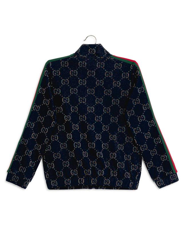 Sweat-shirt zippé GG et bande Web GUCCI