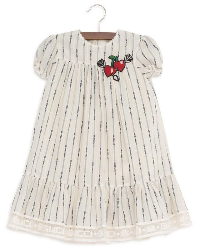 Robe avec patch coeur Gucci Jacquard Stripe GUCCI