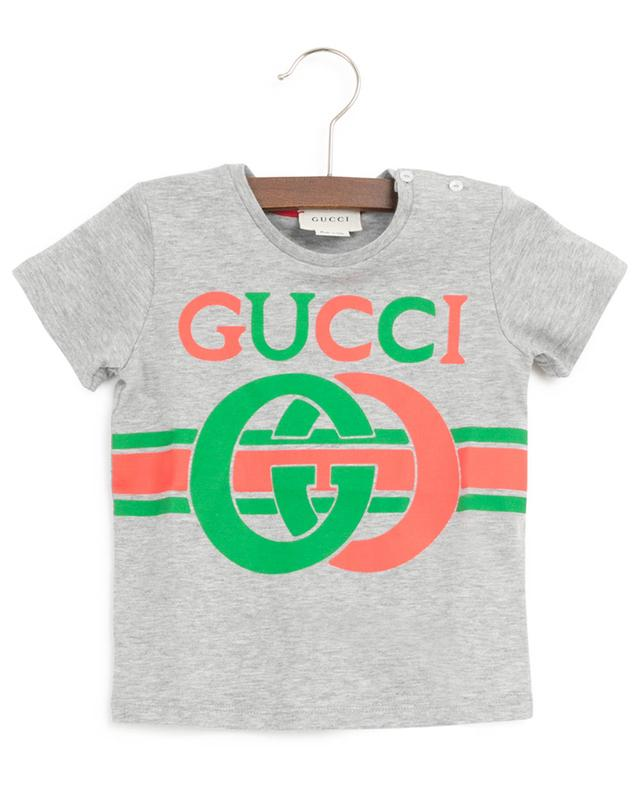 G Interlocked printed T-shirt with buttons GUCCI