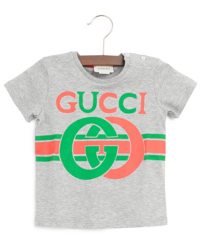T-Shirt mit Knöpfen und Print G Interlocked GUCCI