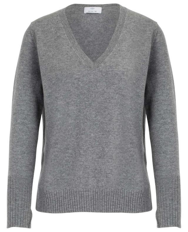 V-neck cashmere jumper with slits ALLUDE
