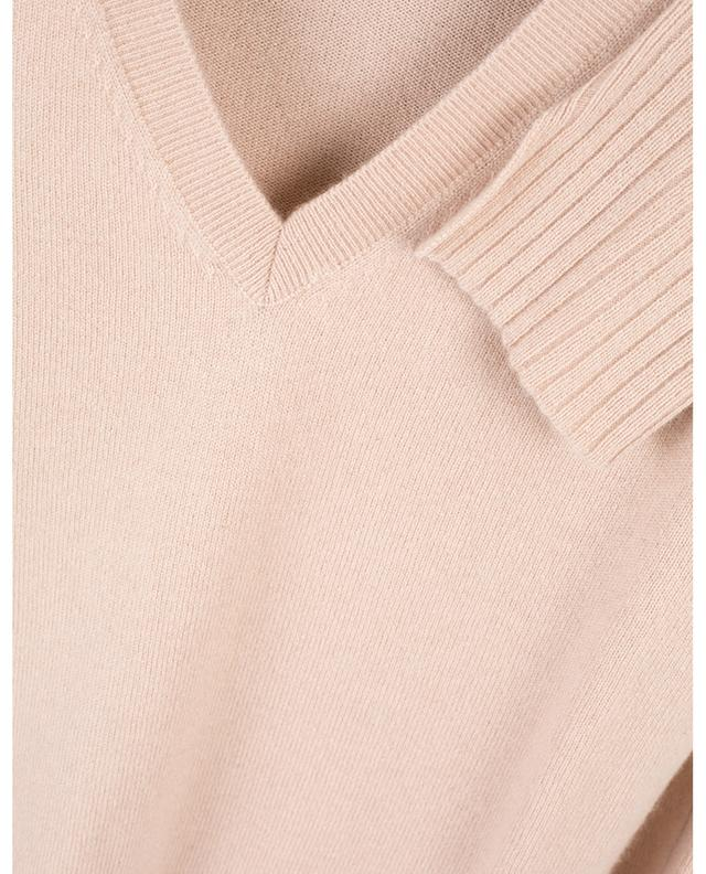 V-neck cashmere jumper with slits ALLUDE