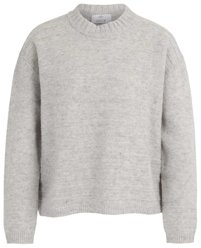 Thick loose jumper adorned with textured stripes ALLUDE