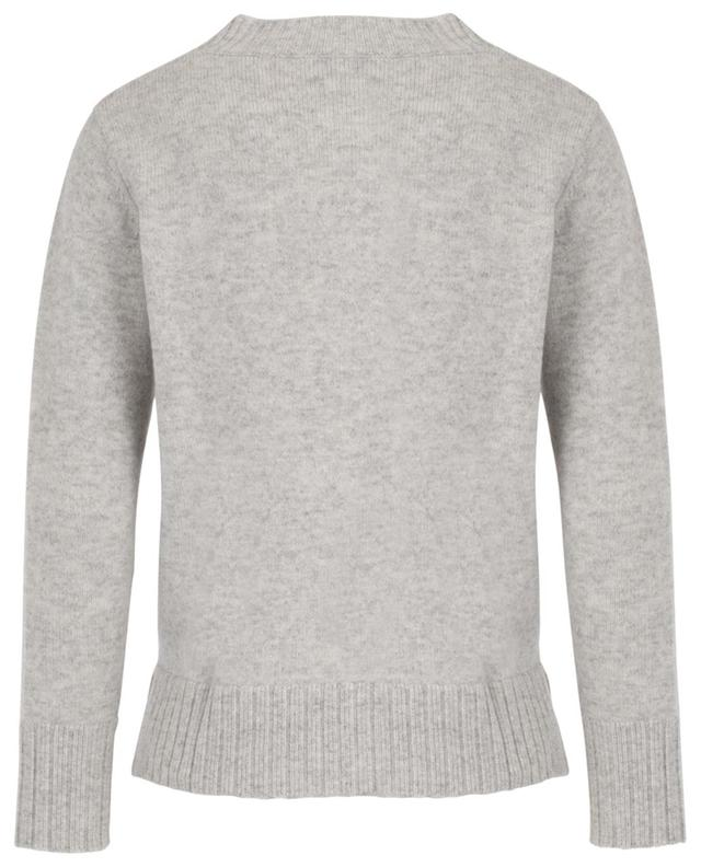 Short relaxed mottled knit jumper ALLUDE