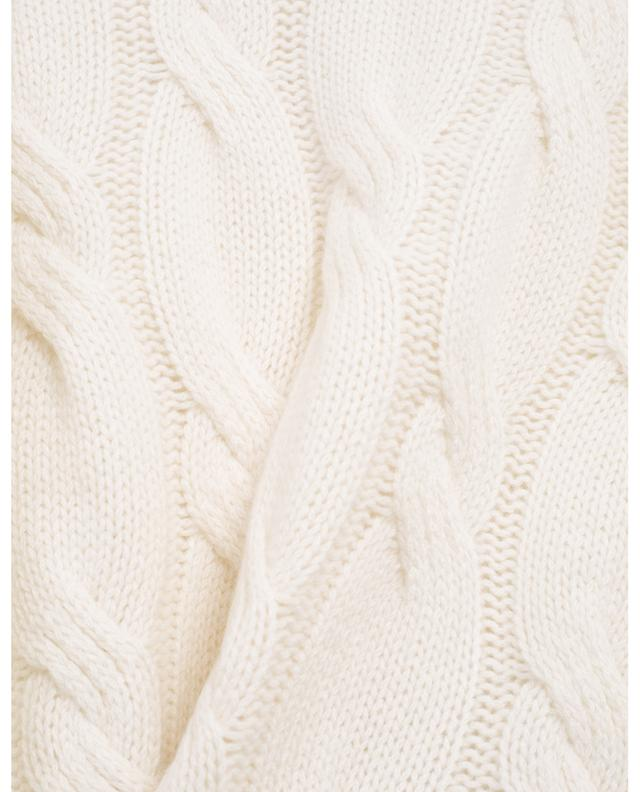 Round neck cable knit jumper ALLUDE