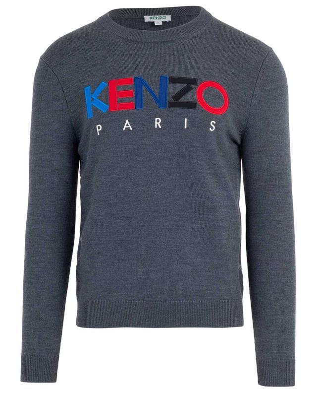 Pull à col rond brodé logo Kenzo Paris KENZO