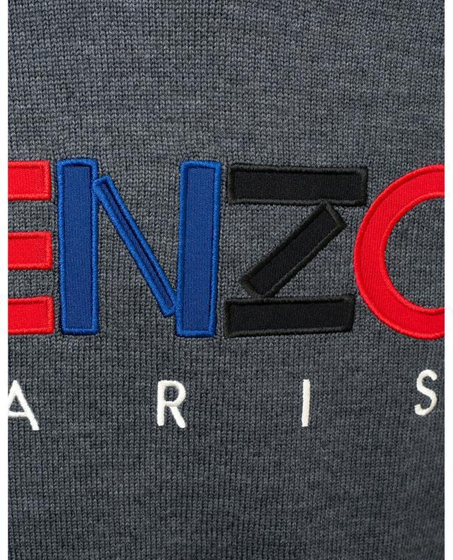 Rundhalspullover mit Logostickereien Kenzo Paris KENZO