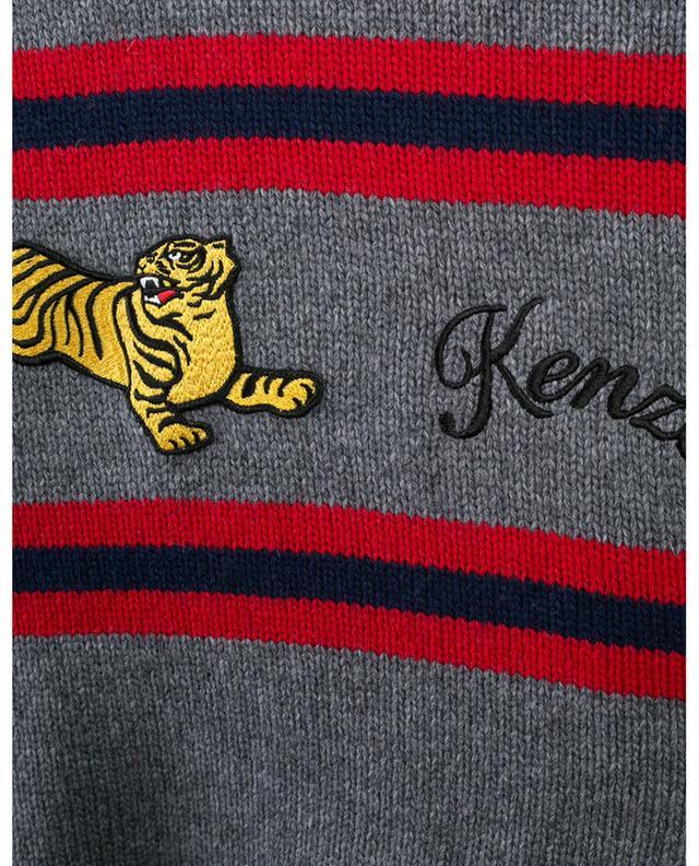 Jumping Tiger striped raglan sleeve jumper KENZO
