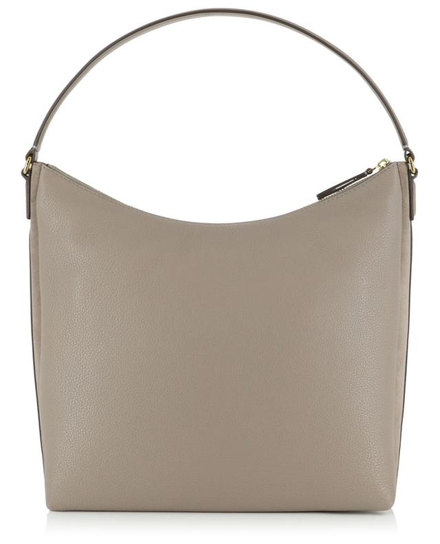 Kira grained leather and suede shoulder bag TORY BURCH