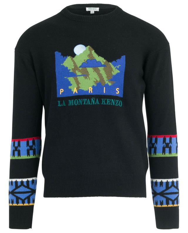 Mountain Artwork embroidered jacquard jumper KENZO