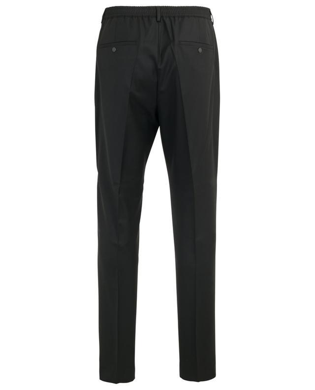 Pantalon slim en laine broderie logo KENZO