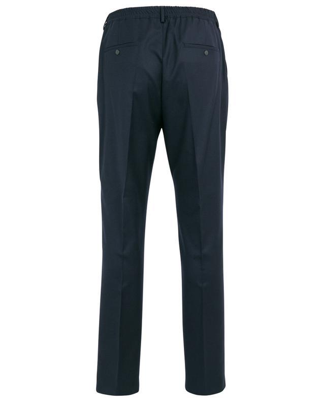 Pantalon slim brodé logo en laine KENZO