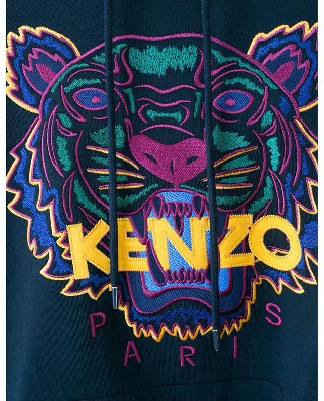 Sweat-shirt à capuche broderie multicolore Classic Tiger KENZO
