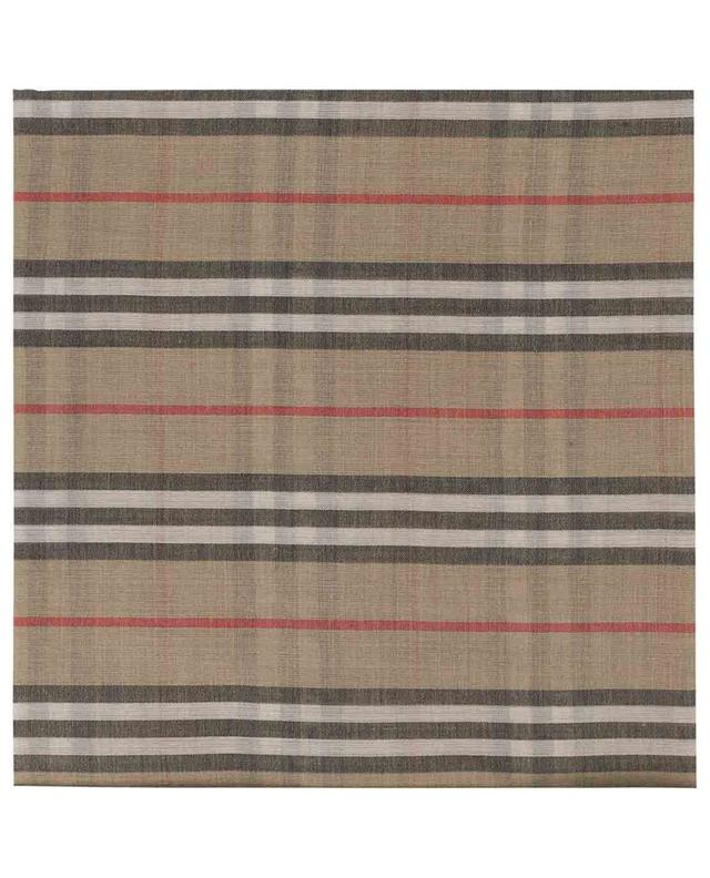 Fine check wool and silk shawl BURBERRY