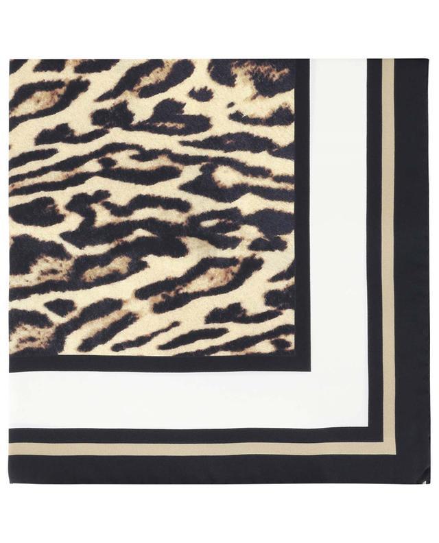Halstuch aus Seide mit Leopard-Print BURBERRY