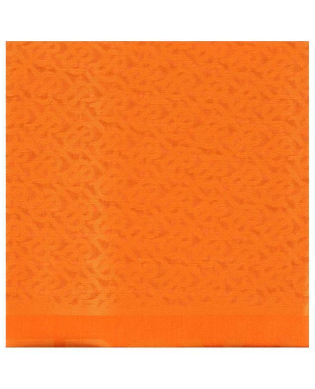 Monogram silk and wool shawl BURBERRY